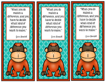 Orangutan bookmark