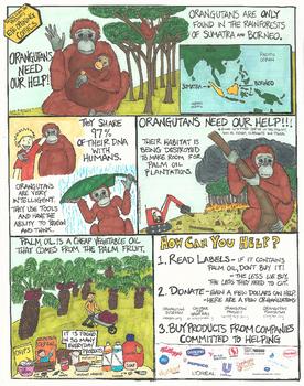 Orangutans Need Our Help Comic