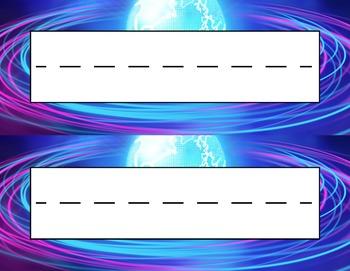Orbit Desk Name Tag Plates Set