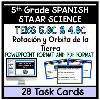 Orbita y Rotacion de la Tierra Earth's Orbit and Rotation 5th Grade
