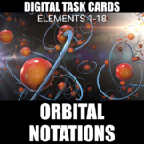 Orbital Notations Digital Task Cards | Distance Learning