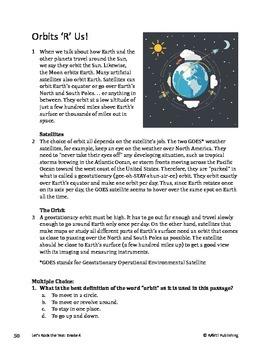 Orbits R Us - Informational Text Test Prep