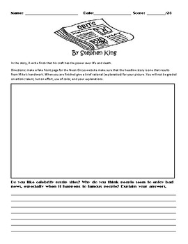 Obits by Stephen King Assignment
