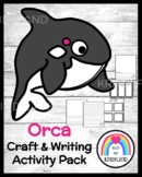 Orca Craft Topper and Writing Activity for Ocean Literacy Center