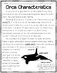 Orca (Killer Whale) Close Reads
