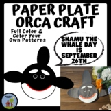 Paper Plate Animal Craft Orca / Killer Whale  - Shamu Day