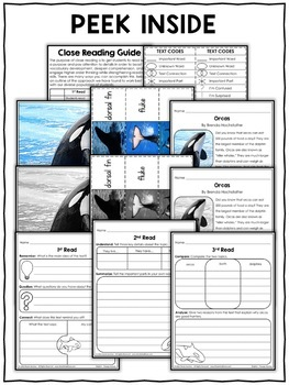 Close Reading Passage - Orca Activities
