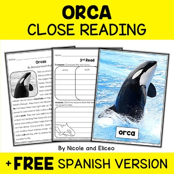 Orca Close Reading Passage Activities