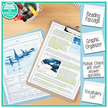 Reading Comprehension Passage and Questions: Orcas