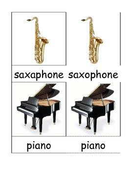 Orchestra 3 Part Cards - Montessori