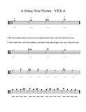 Orchestra A String Note Name Introductions
