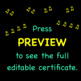 Orchestra Award ♫ Certificate ♫ Editable Template