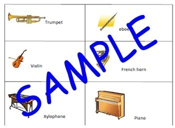 Orchestra Charades - Instrument Game - Sub Plan - Elementary Music SPRING