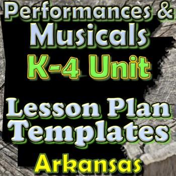Performance Lesson Plan Template Bundle - Arkansas Elementary Music