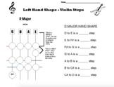 Orchestra D Major Steps Worksheet