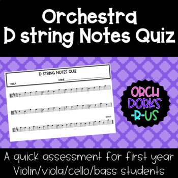 Orchestra - D string notes quiz