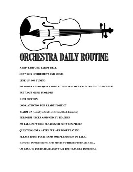 Orchestra Daily Routine
