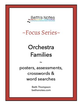Orchestra Families: Crosswords & Word Searches