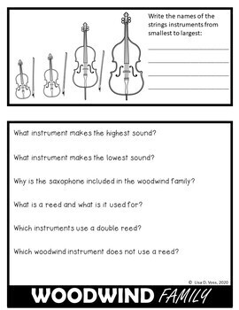 Instruments of the Orchestra - Easy to Assemble Flipbook, Ready to Print
