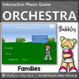 Music Distance Learning ~ Orchestra Families Interactive Music Game {bubbles}