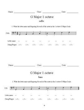 Orchestra Fingerings: G Major