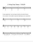 Orchestra G String Note Name Introduction