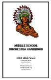 Orchestra Handbook - Middle School