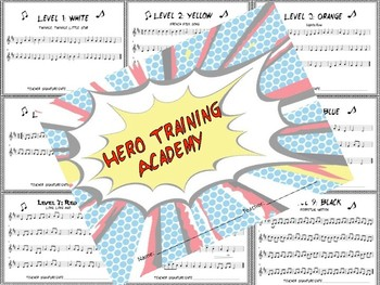 Hero Training Academy Booklet - Treble Clef