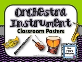 Orchestra  Instrument Classroom Posters
