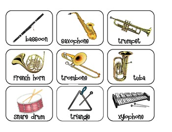 Orchestra Instrument Playing Card Game