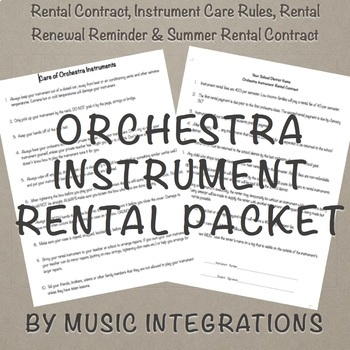 Orchestra Instrument Rental Packet- Editable For Band
