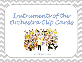 Orchestra Instruments Clip Cards