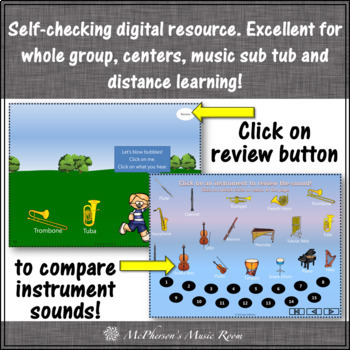 Spring Music Game: Orchestra Instruments Interactive Music Game {bubbles}