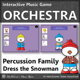 Orchestra Instruments Percussion Family Interactive Music Game {Dress Snowman}