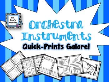Orchestra Instruments Quick-Prints Galore (All four famili