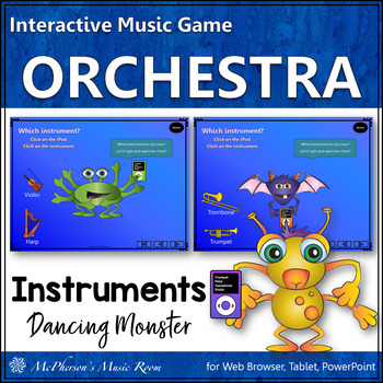 Orchestra Instruments! What do you hear? Interactive Music Game (monsters)