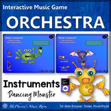Orchestra Instruments Elementary Music Interactive Music Game {Dancing Monsters}
