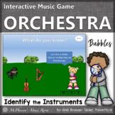 Spring Music Game: Instruments of the Orchestra Interactive Music Game {bubbles}