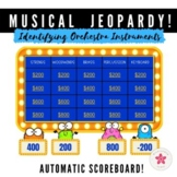 Orchestra Instruments Music Jeopardy - Game Show with Scor