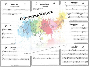 Orchestra Karate Booklet - Treble Clef