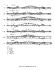 Orchestra: Major Scales for Double Bass with fingerings
