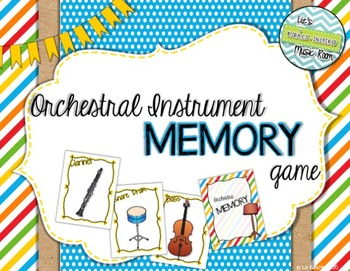 Orchestra Memory Card Game