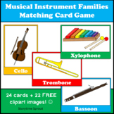 Orchestra Musical Instrument Families Matching Card Game w