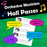 Orchestra Musician Hall Passes