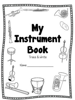 Orchestra & Orff Instruments - Trace & Write Pages