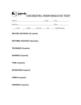 Orchestra Performance Test