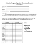 Orchestra Progress Report for Elementary Orchestra