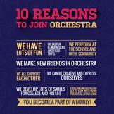 Orchestra Recruiting Poster