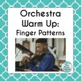 Orchestra Warm Up: Finger Patterns