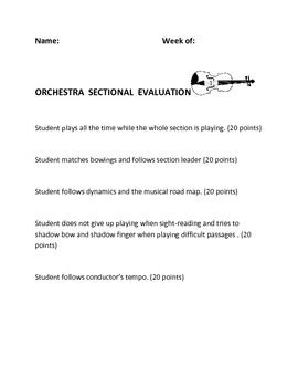 Orchestra Weekly Section Evaluation